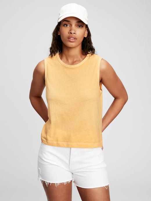 Kadın Turuncu Askılı T-Shirt