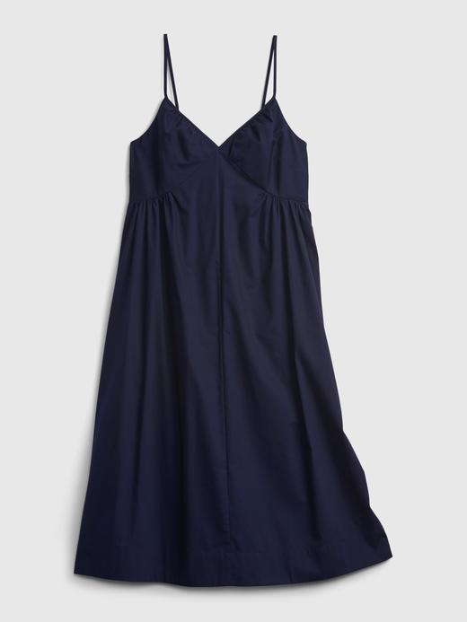Kadın Bej V Yaka Midi Elbise