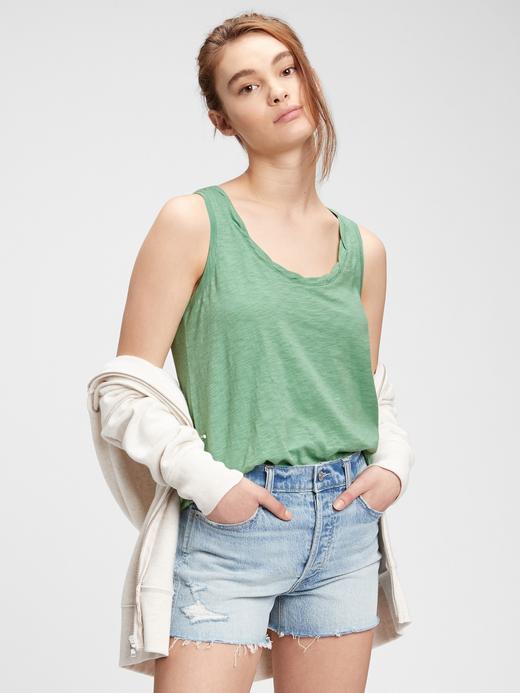 Kadın Yeşil Askılı T-Shirt