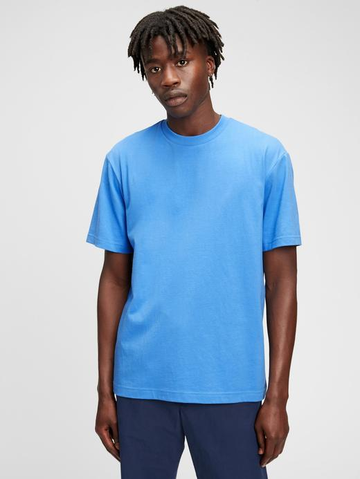 Erkek Lacivert %100 Organik Pamuk T-Shirt