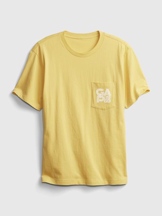 Erkek Yeşil Organik Pamuklu Gap Logo T-Shirt