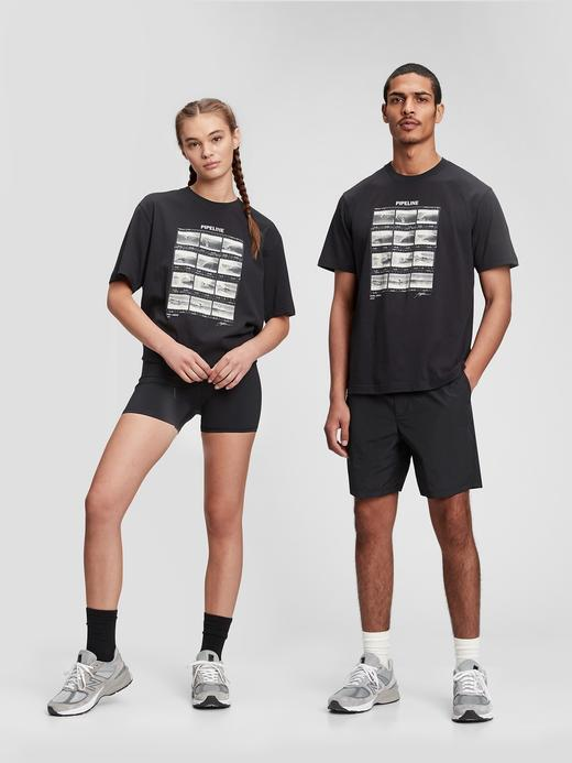 Erkek Siyah Organik Pamuklu Grafik Desenli T-Shirt