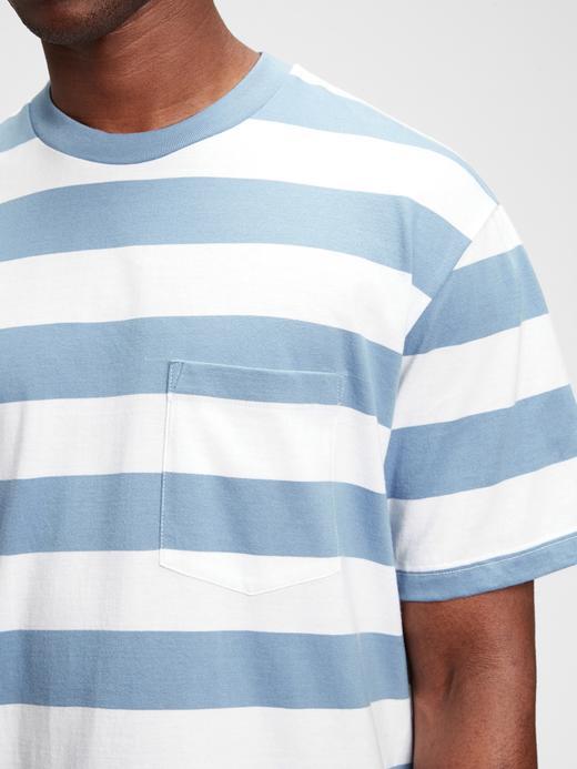 Erkek Mavi Grafik Desenli T-Shirt