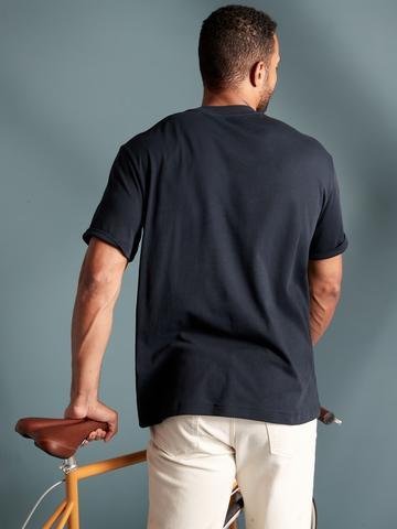 Erkek Lacivert Organik Pamuklu Yuvarlak Yaka T-Shirt