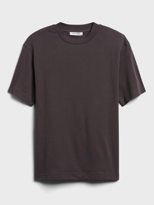 Erkek Mor Organik Pamuklu Yuvarlak Yaka T-Shirt