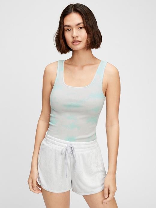 Kadın Yeşil Desenli Askılı T-Shirt