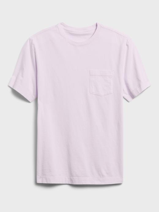 Erkek Mor Authentic SUPIMA® Yuvarlak Yaka T-Shirt