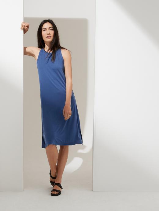 Kadın Mavi Sandwash Atlet Elbise