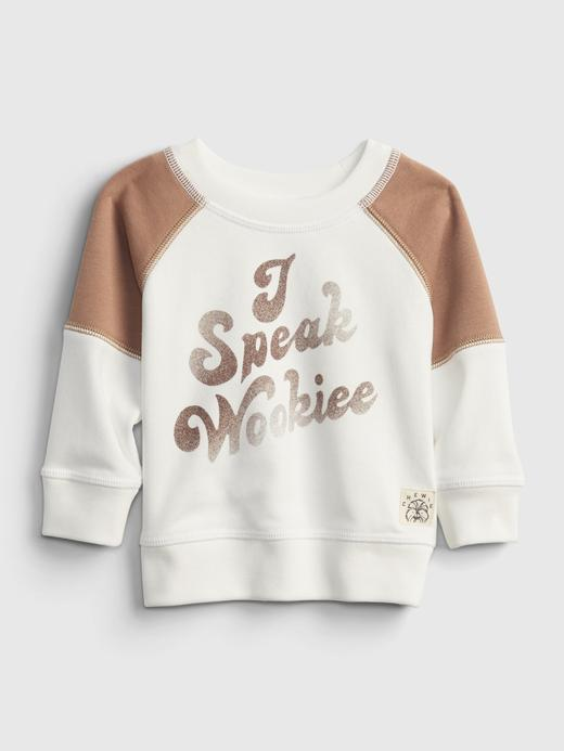 Erkek Bebek Beyaz Star Wars Sweatshirt