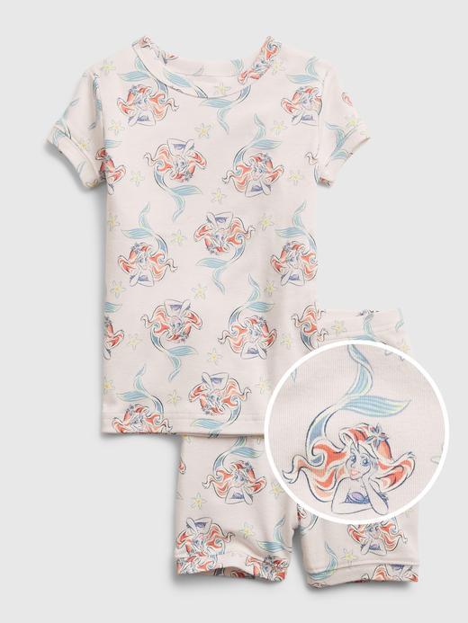 Kız Bebek Beyaz Disney The Little Mermaid Ariel  Organik Pamuklu Pijama Seti