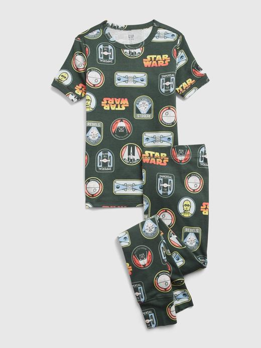 Erkek Çocuk Yeşil Star Wars™ Organik Pamuklu Pijama Seti
