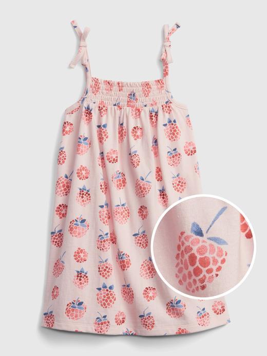 Kız Bebek Pembe Grafik Desenli Elbise
