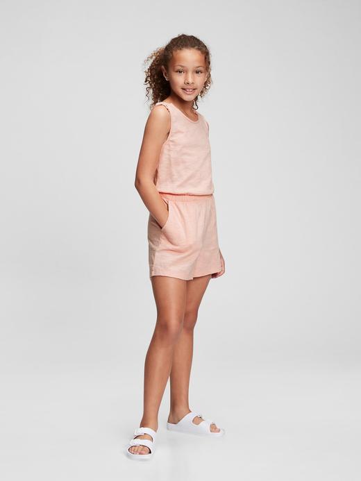 Kız Çocuk Pembe Askılı Tulum