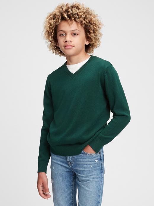 Erkek Çocuk Lacivert Organik Pamuklu Sweater