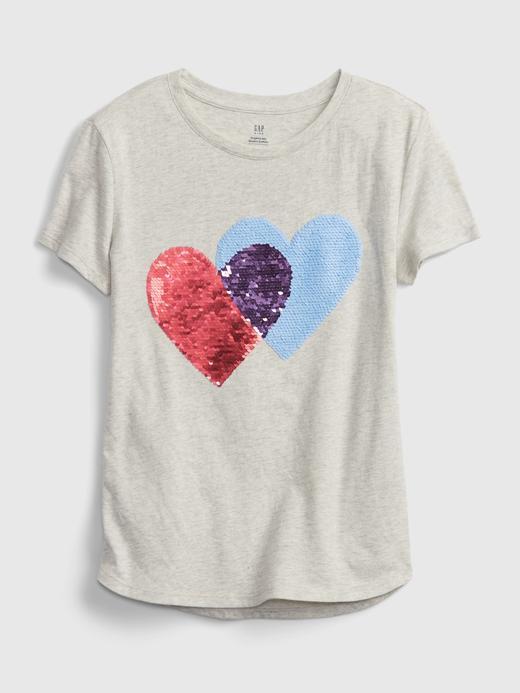 Kız Çocuk Gri Organik Pamuk  Grafik Desenli T-Shirt
