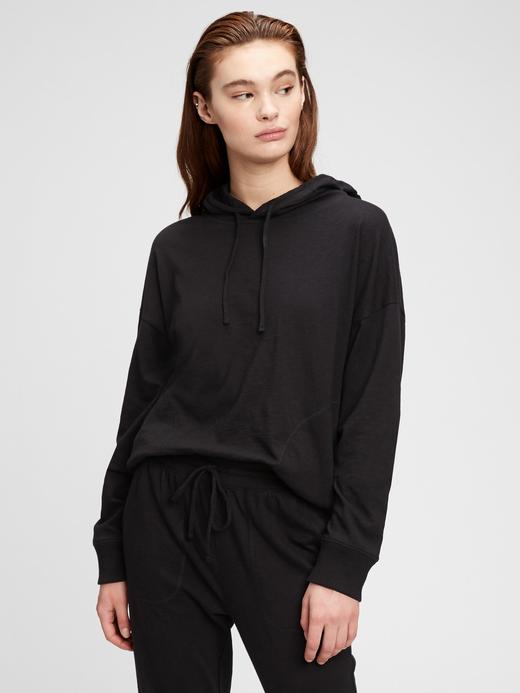 Kadın Pembe Jersey Kapüşonlu Sweatshirt