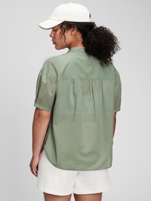 Kadın Kahverengi Kısa Kollu Bluz