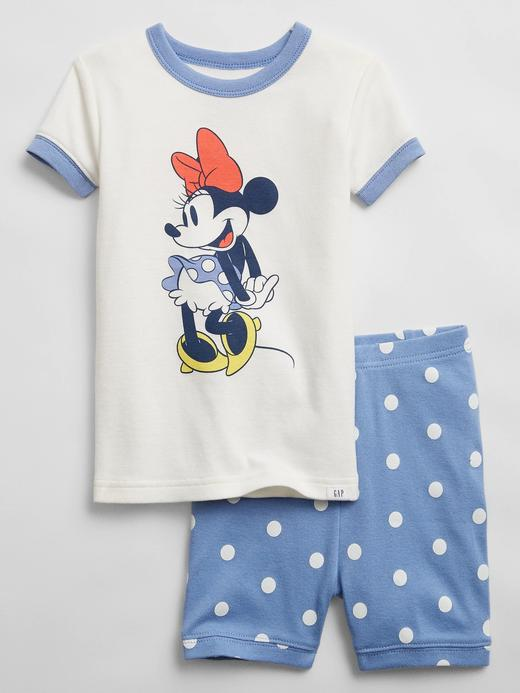 Kız Bebek beyaz Disney Minnie Mouse Organik Pamuklu Pijama Seti