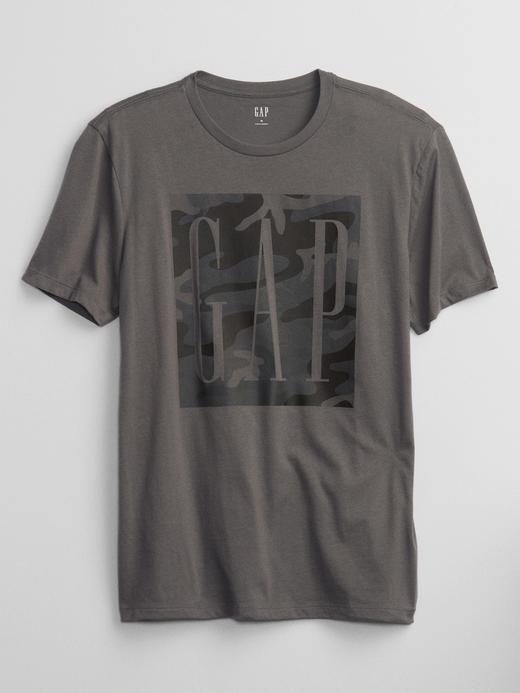 Erkek Gri Gap Logo T-Shirt
