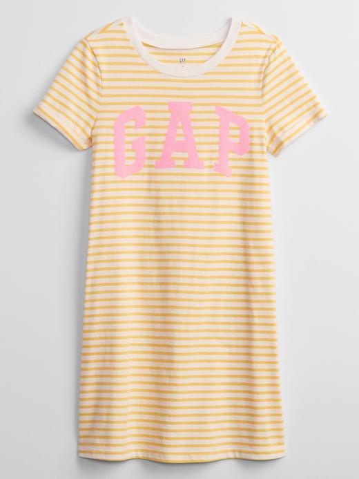 Kız Çocuk Sarı Gap Logo T-Shirt Elbise