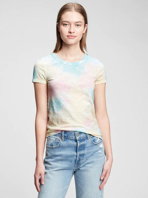 Kadın Pembe Tie-Dye T-Shirt