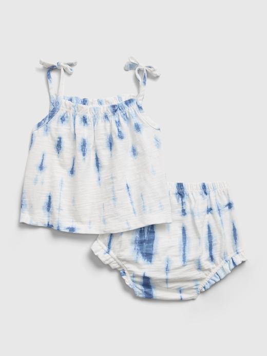 Kız Bebek beyaz Tie-Dye Tulum