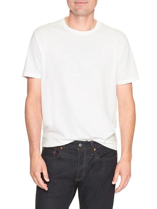 Erkek Beyaz Everyday Sıfır Yaka T-Shirt