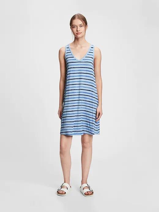 Kadın Mavi Askılı Elbise