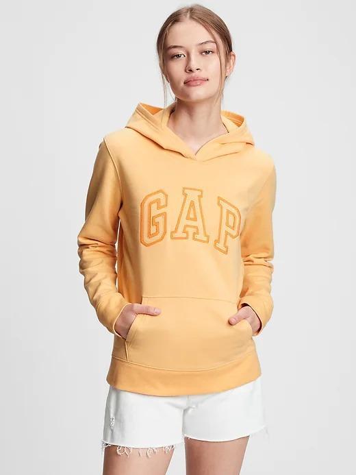 Kadın Sarı Gap Logo Kapüşonlu Sweatshirt