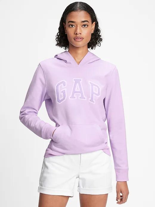 Kadın Mor Gap Logo Kapüşonlu Sweatshirt