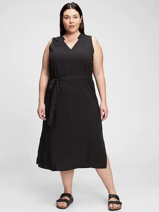 Kadın Siyah Desenli Maxi Elbise