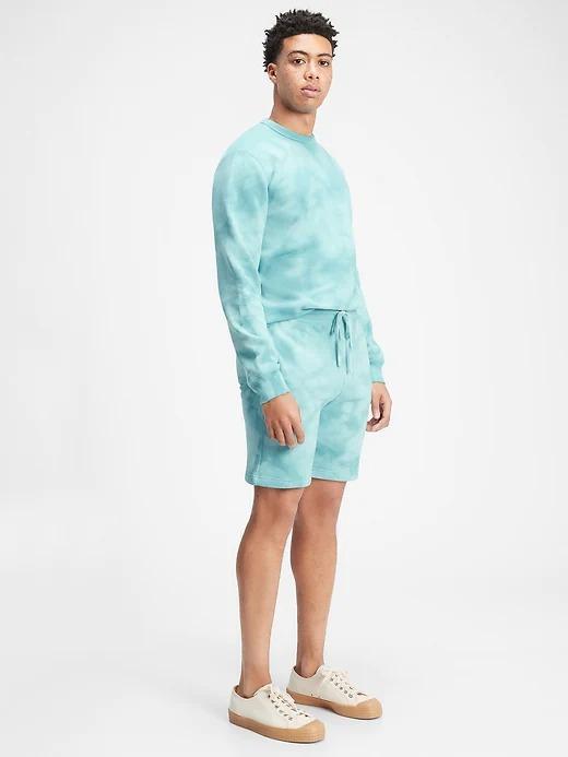 Erkek Mavi Tie-Dye Şort