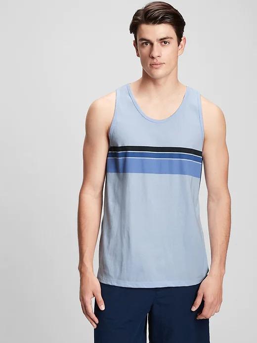 Erkek mavi Çizgili Atlet