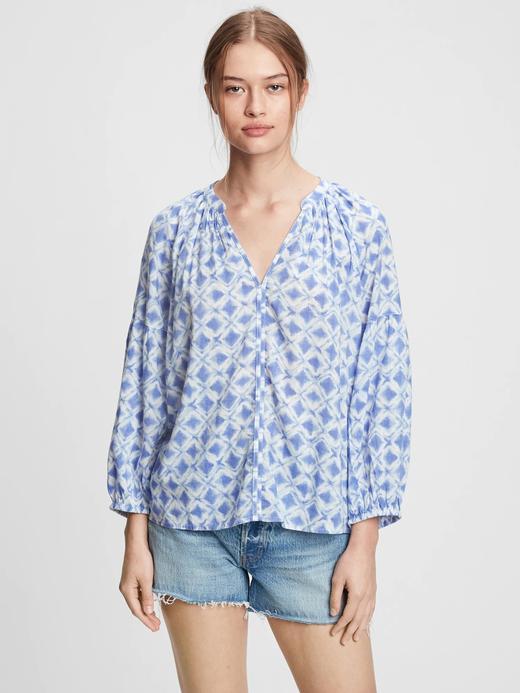 Kadın Mavi Popover Bluz