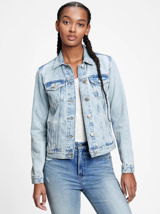 Kadın Mavi Denim Ceket