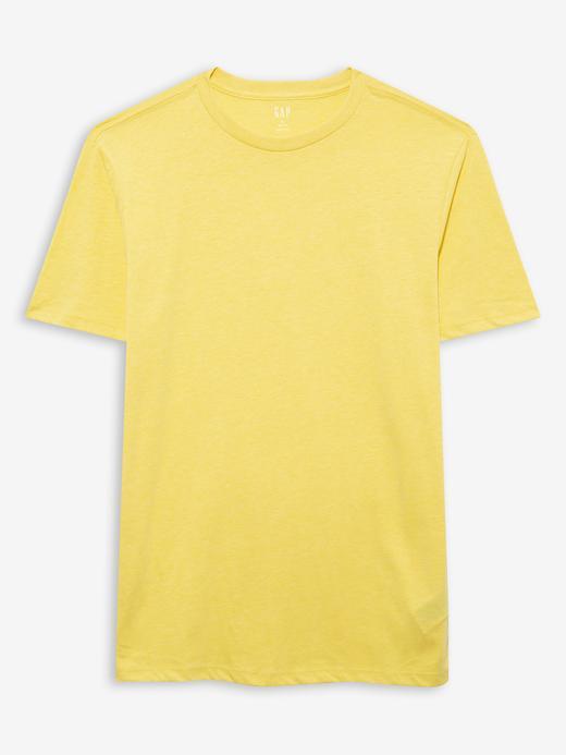 Erkek Sarı Yuvarlak Yaka T-shirt