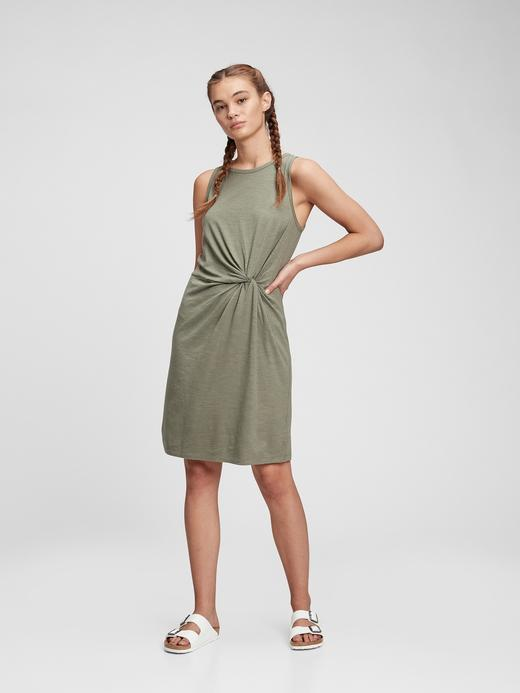 Kadın Yeşil Kolsuz Elbise
