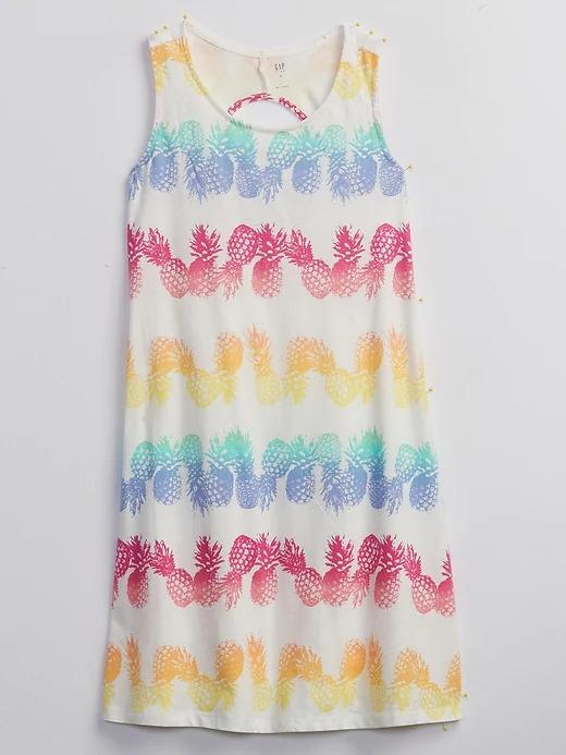 Kız Çocuk Çok Renkli Tie Dye Plaj Elbisesi