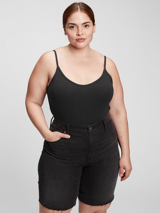 Kadın Siyah Kadın Fitilli Bodysuit