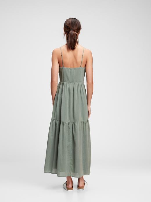 Kadın Yeşil V Yaka Uzun Elbise