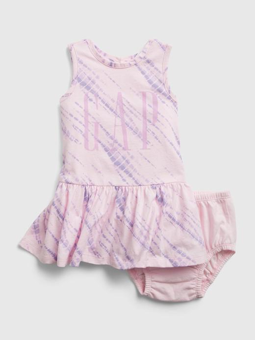 Kız Bebek Mor Bebek Gap Logo Elbise