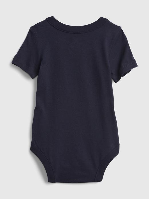 Erkek Bebek Lacivert babyGap   Peanut Grafik Desenli Bodysuit