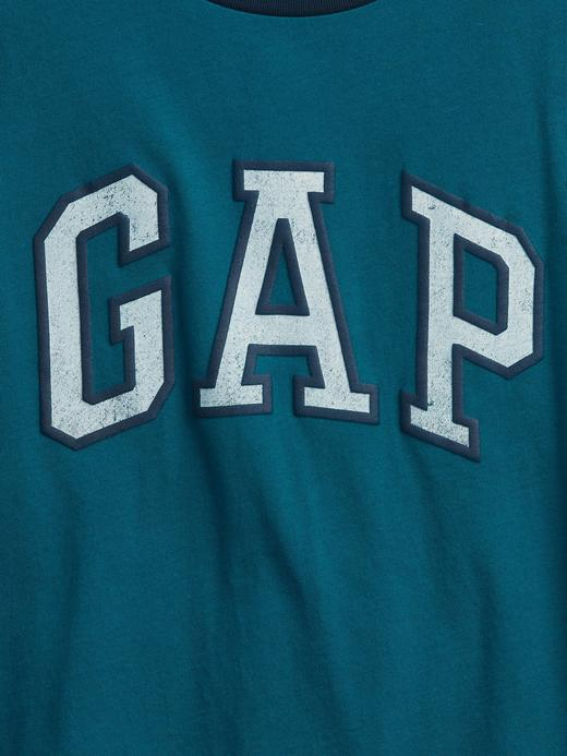 Erkek Çocuk Gri Gap Logo T-Shirt