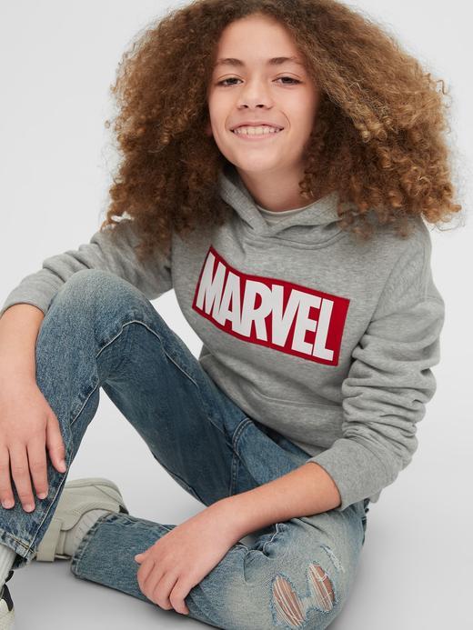 Erkek Çocuk Siyah Marvel© Kapüşonlu Sweatshirt