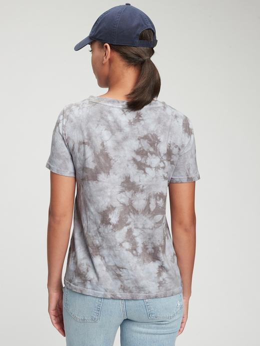 Kadın pembe Organik Pamuk Vintage Tie-Dye T-Shirt
