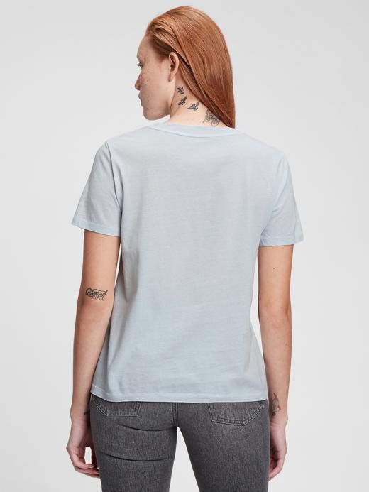 Kadın Siyah Organik Pamuklu Vintage T-Shirt