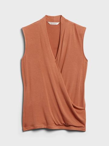 Kadın Turuncu Threadsoft Wrap Bluz