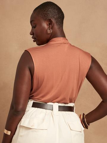 Kadın Siyah Threadsoft Wrap Bluz