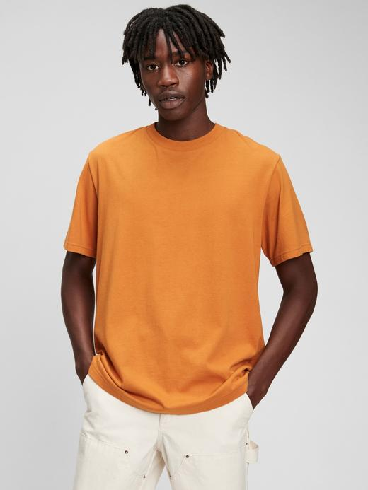 Erkek Turuncu %100 Organik Pamuk T-Shirt