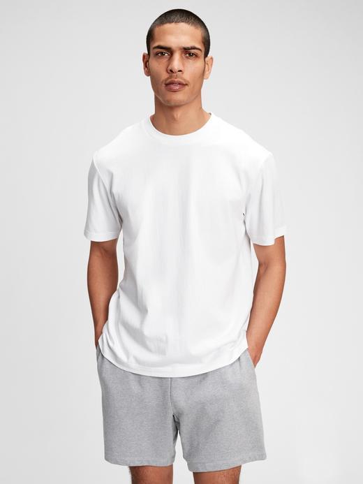 Erkek Beyaz %100 Organik Pamuk T-Shirt